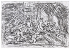 From Goya:  The Madhouse by Leon Kossoff at Annandale Galleries