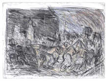 From Goya:  A Procession of Flagellants by Leon Kossoff at Annandale Galleries