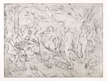 From Rubens:  The Judgement of Paris by Leon Kossoff at Annandale Galleries