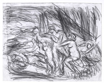 From Poussin:  Cephalus and Aurora by Leon Kossoff at Annandale Galleries