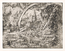 From Constable:  Salisbury Cathedral from the Meadows by Leon Kossoff at Annandale Galleries