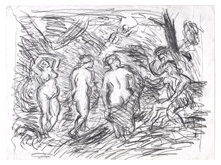 From Rubens:  The Judgment of Paris by Leon Kossoff at Annandale Galleries