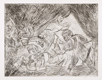 From Rembrandt:  The Blinding of Samson by Leon Kossoff at Annandale Galleries