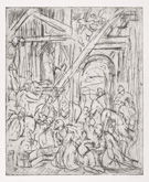 From Veronese:  The Adoration of the Kings by Leon Kossoff at Annandale Galleries