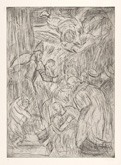 From Veronese:  The Consecration of Saint Nicholas - No. 2 by Leon Kossoff at Annandale Galleries