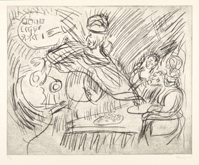 From Rembrandt:  Belshazzar's Feast by Leon Kossoff at Annandale Galleries