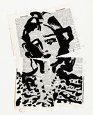 Untitled (Ref. No. 35 / Torn Female) by William Kentridge at Annandale Galleries