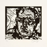 Self Portrait by William Kentridge at Annandale Galleries