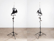 Kinetic Sculpture / Rotating Steel Megaphone I by William Kentridge at Annandale Galleries