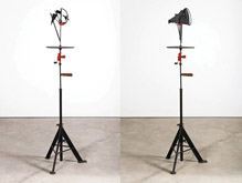 Kinetic Sculpture / Rotating Steel Megaphone II by William Kentridge at Annandale Galleries