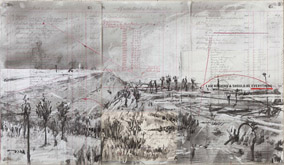 Untitled (Small Landscape) by William Kentridge at Annandale Galleries