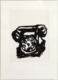Rebus: Telephone by William Kentridge at Annandale Galleries