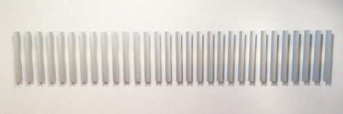 White line sequence by Andrew Leslie at Frances Keevil Gallery