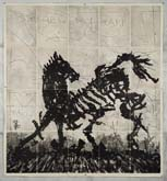 Skeletal Horse by William Kentridge at Annandale Galleries