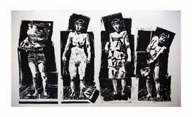 Four Figures by William Kentridge at Annandale Galleries