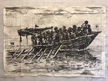 Rufugees (You Will Find No Other Seas) by William Kentridge at Annandale Galleries